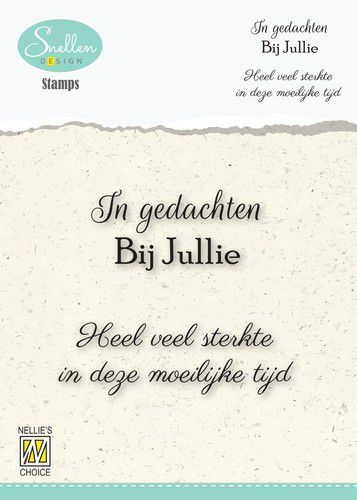 Nellie's Choice Clear Stamps - (NL) In gedachten bij jullie Dutch Condolence Text Clear Stamps 66x58mm