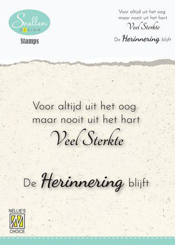 Nellie's Choice Clear Stamps - (NL) Voor altijd uit het oog Dutch Condolence Text Clear Stamps 72x52mm