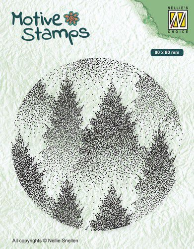 Nellies Choice Christmas Silhouette Clearstamp - Mistig Bos 80x80mm