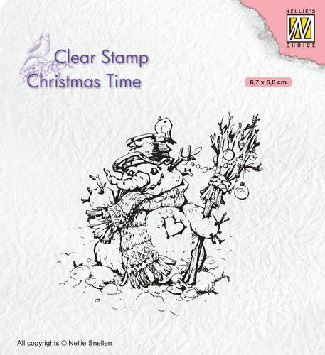 Nellies Choice Clearstempel - Christmas time - Sneeuwpop 67x56mm