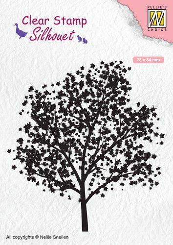 Nellies Choice Clearstempel - Silhouette boom 78x84mm