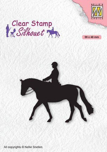 Nellies Choice Clearstempel - Silhouette Ruiter