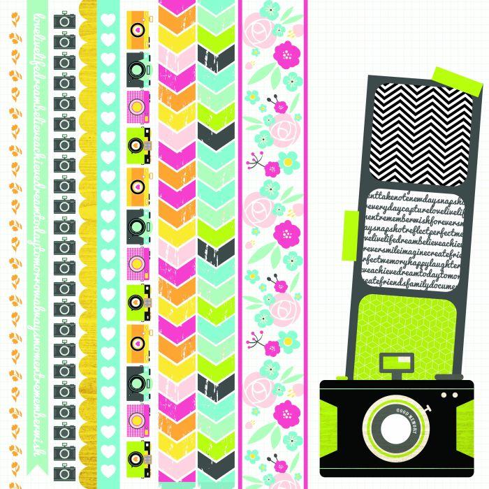 Happy Snaps 12x12 Scrapbook Paper Instant