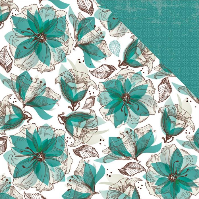 Sea Breeze Double-Sided Cardstock 12