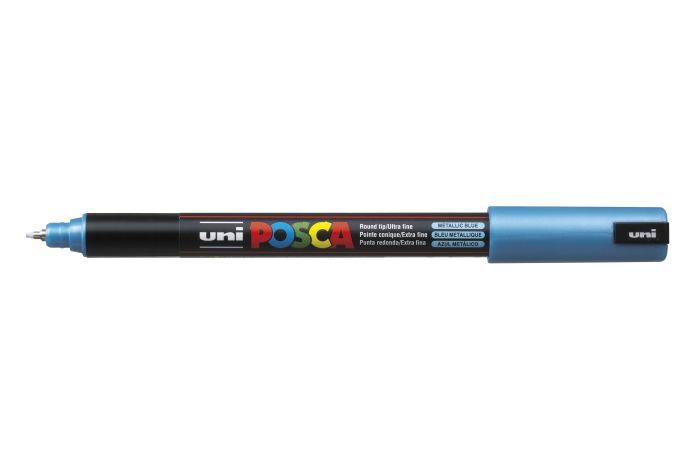 Marker met gekalibreerde punt extra-fijn Metallic blauw M33