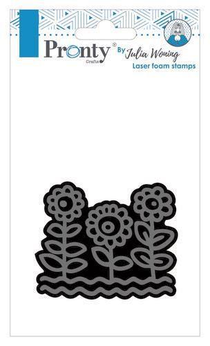 Pronty Foam stamps Sunflowers Julia Woning