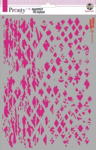 Pronty Mask Background Candy Grunge A4  by Jolanda