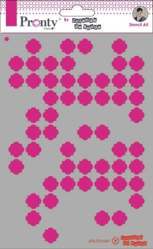 Pronty Mask Pattern background 3 A5 by Jolanda