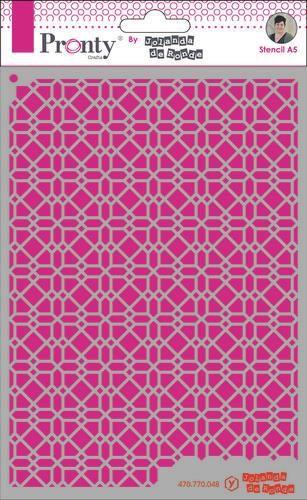 Pronty Mask Pattern background 4 A5 by Jolanda