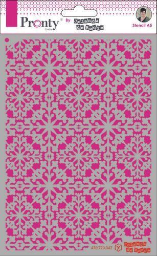 Pronty Mask Pattern barok 4 A5 by Jolanda