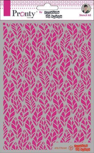 Pronty Mask Pattern leaves A5 by Jolanda