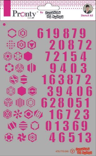 Pronty Mask Pattern numbers A5 by Jolanda