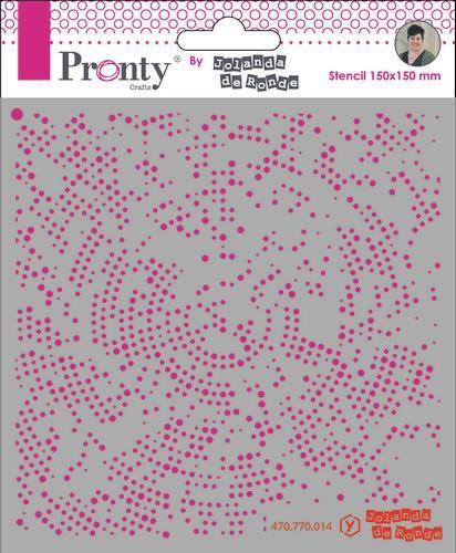 Pronty Mask stencil 15x15 Dots Radius  by Jolanda
