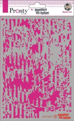 Pronty Mask stencil A5 Grunge Lines  by Jolanda