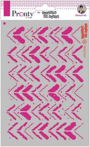 Pronty Mask stencil A5 Grunge Stripes by Jolanda