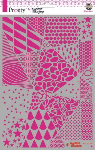 Pronty Mask stencil Geometric backgrounds A4  by Jolanda