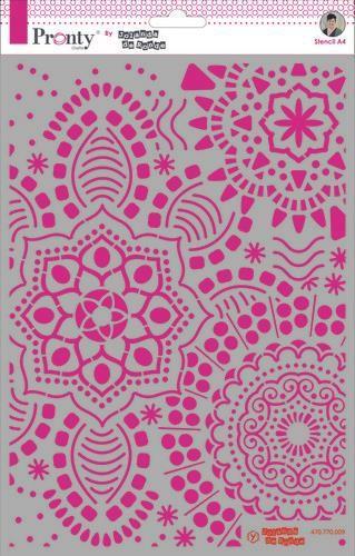 Pronty Mask stencil Mandala background A4  by Jolanda
