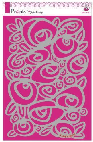 Pronty Stencil A4 Roses  A4 Julia Woning