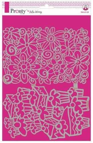 Pronty Stencil Cakes & Flowers A4 Julia Woning