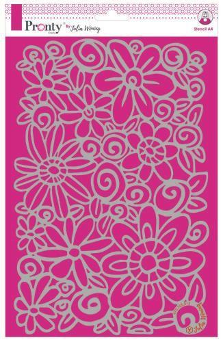 Pronty Stencil Flowers A4 Julia Woning
