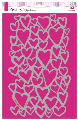 Pronty Stencil Hearts A4 Julia Woning