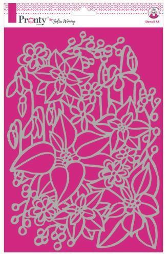 Pronty Stencil Inter Flowers A4 Julia Woning