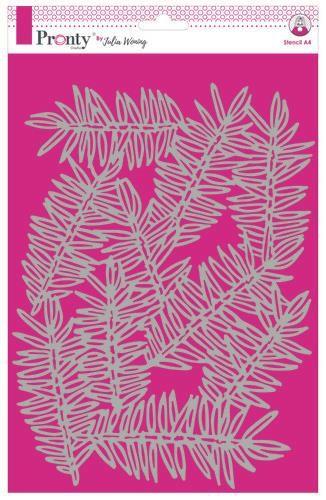 Pronty Stencil Pine Branches A4 Julia Woning
