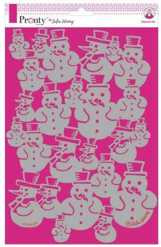 Pronty Stencil Snowman A4 Julia Woning