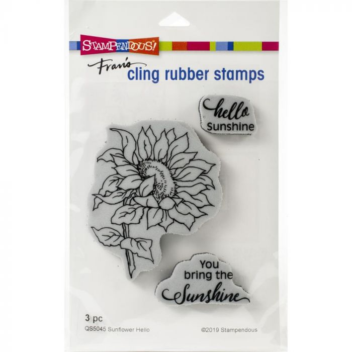Stampendous Cling Stamp Sunflower Hello
