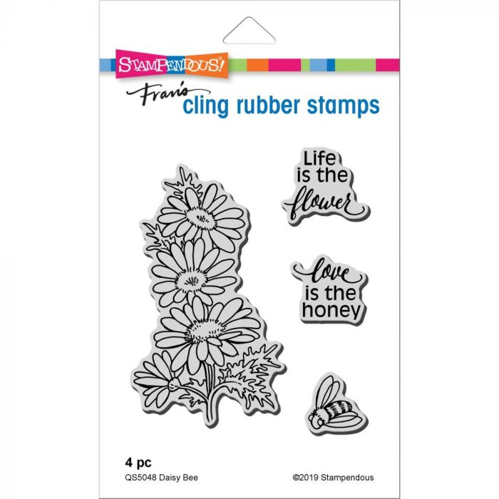 Stampendous Cling Stamp Daisy Bee