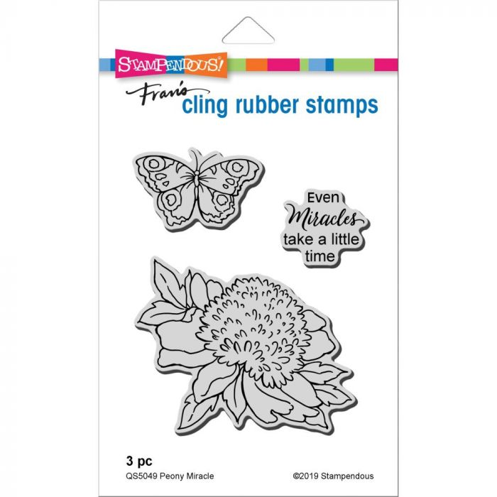 Stampendous Cling Stamp Peony Miracle