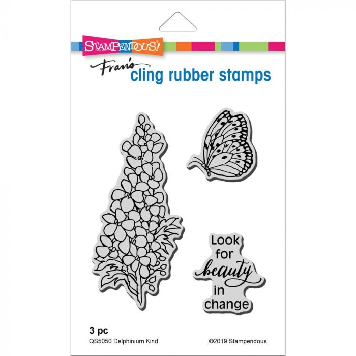 Stampendous Cling Stamp Delphinium Kind