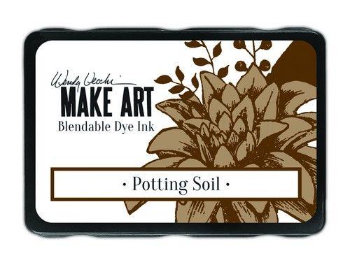 Ranger MAKE ART Dye Ink Pad Potting Soil  Wendy Vecchi