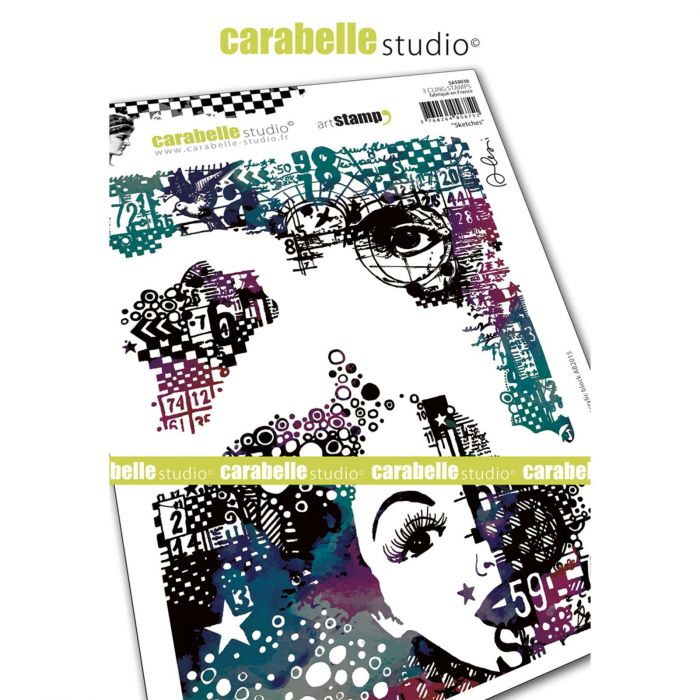 Carabelle Studio Cling stamp A5 sketches
