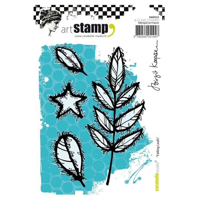 Carabelle cling stamp A6 falling leafs