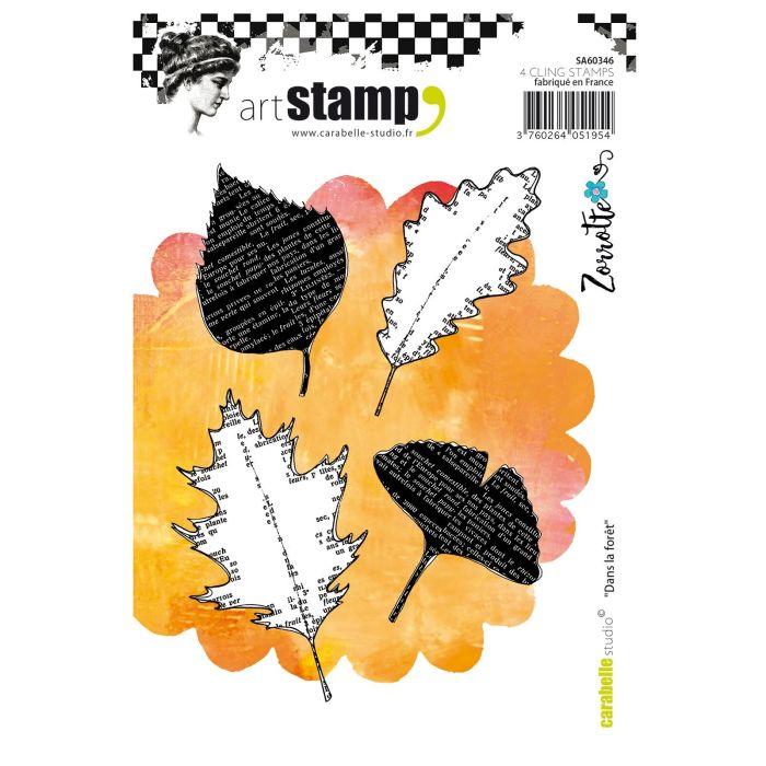 Carabelle cling stamp A6 dans la forêt