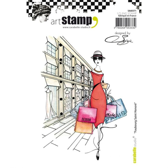 Carabelle cling stamp A6 faubourg Saint Honoré by Soizic