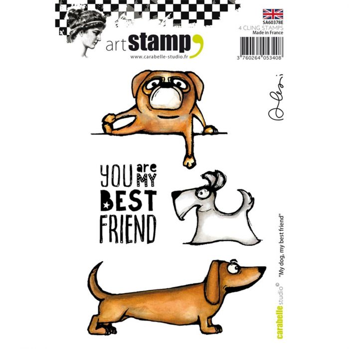 Carabelle cling stamp A6 my dog, my best friend by Alexi