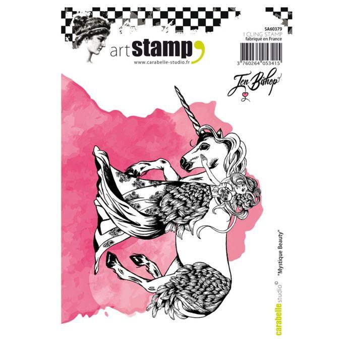 Carabelle cling stamp A6 mystique beauty by Jen Bishop