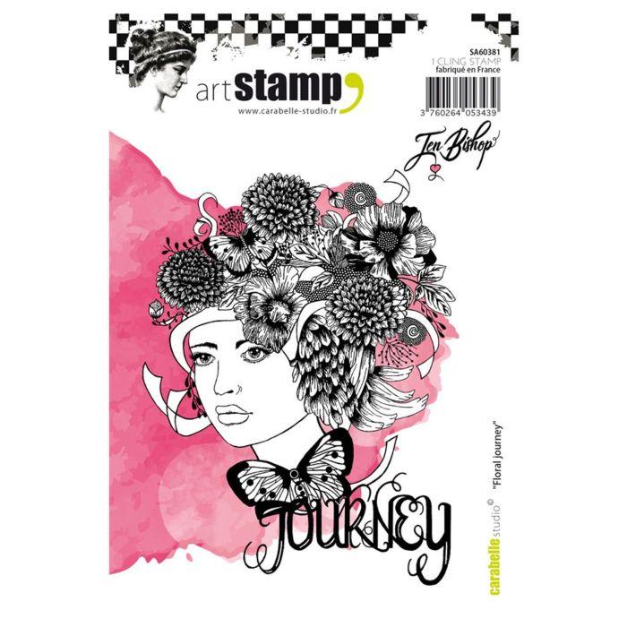 Carabelle cling stamp A6 floral journey by Jen Bishop