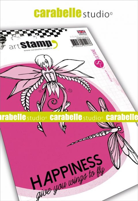 Carabelle Studio cling stamp A6 happiness
