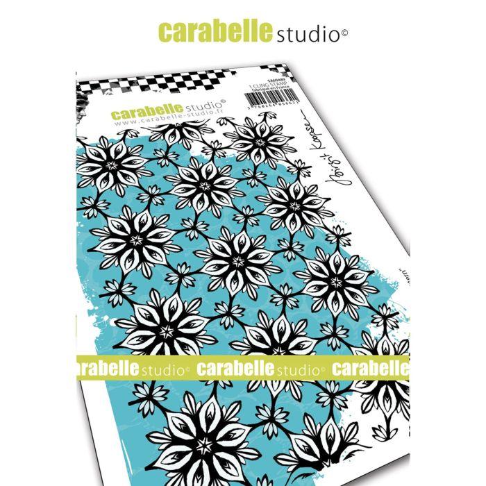 Carabelle Studio Cling stamp A6 floral pattern