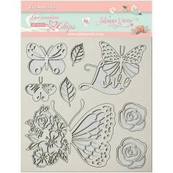 Stamperia Decorative Chips Circle of Love Butterfly