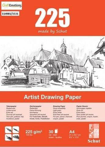 Schut Artist Drawing Paper 225 gram A3 bloc a 30 vel