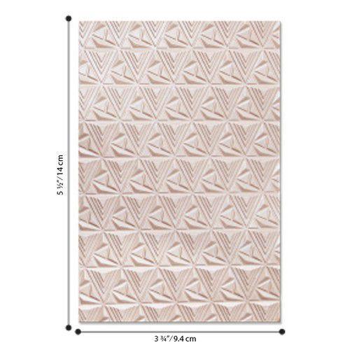 Sizzix - 3-D Textured Impressions Emb. Folder Geometric Lattice Jessica Scot