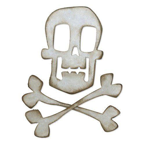 Sizzix Bigz Die - Skull & Crossbones Tim Holtz