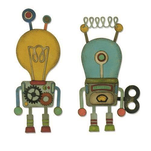 Sizzix Thinlits Die Set - 14PK Robotic Tim Holtz