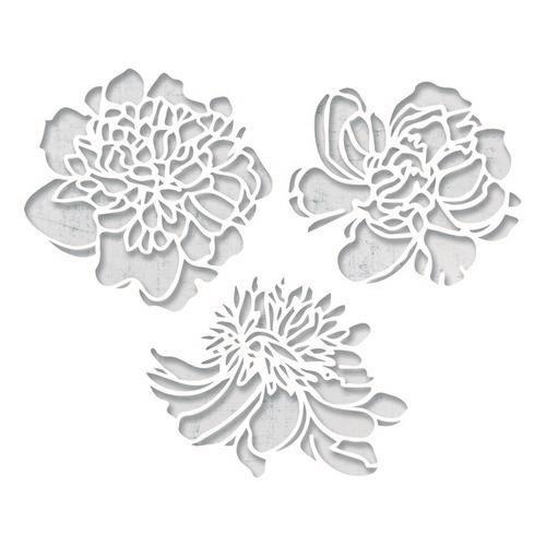 Sizzix Thinlits Die Set - 3PK Cutout Blossoms Tim Holtz