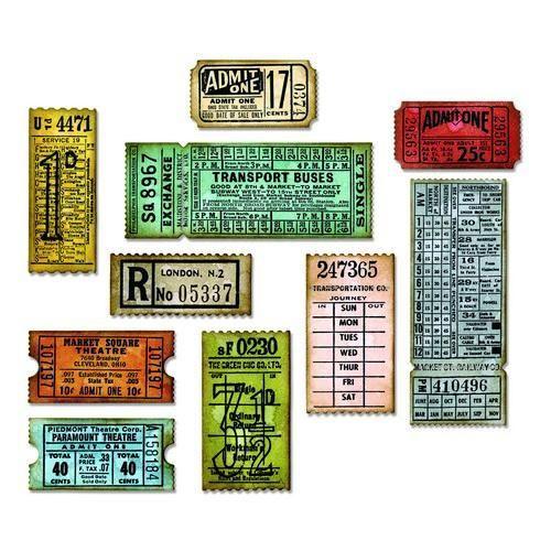 Sizzix Tim Holtz Thinlits Die Set 6PK - Ticket Booth