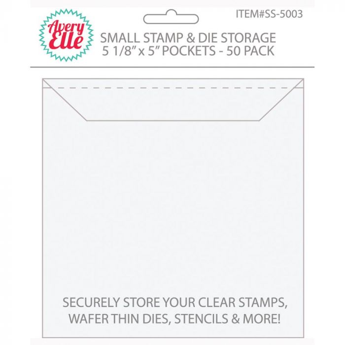 Avery Elle Stamp & Die Storage Pockets 50/Pkg Small 5